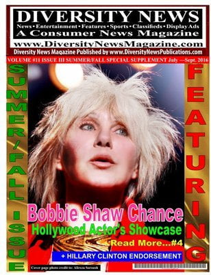 Diversity News Magazine Summer-Fall Special Print Issue Featuring Bobbie Shaw Chance 2016