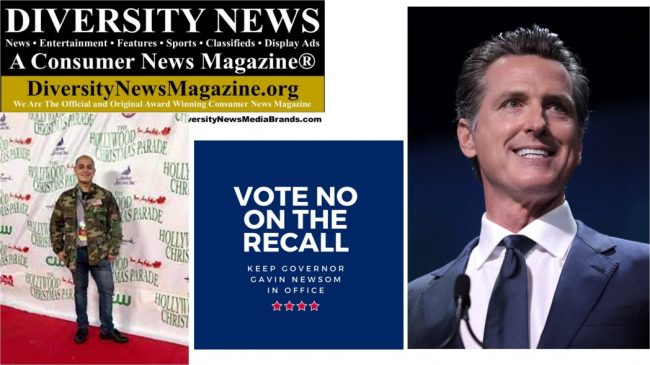 I support CA Governor Gavin Newson - NO on the Recall September 14, 2021